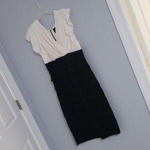 Dressy dress, size 14, amazing fit, EUC